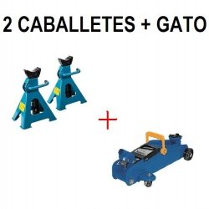 KIT 2 CABALLETES + GATO HIDRÁULICO