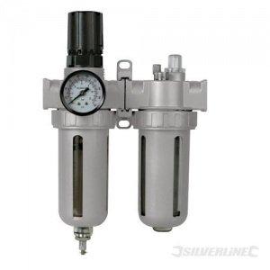 Regulador de presión con lubricador y filtro de humedad
