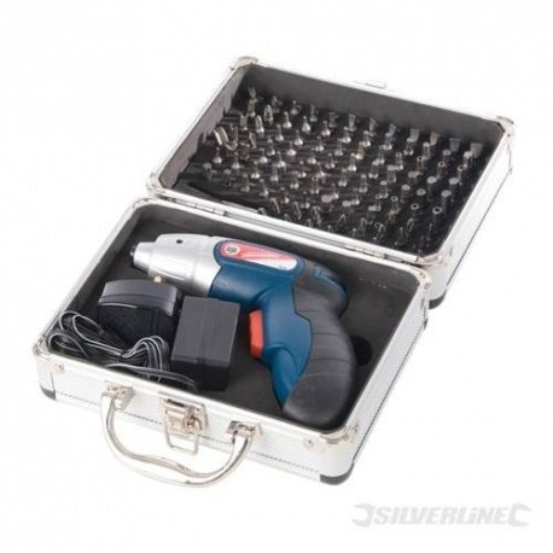 Destornillador con batería de litio y 102 pzas