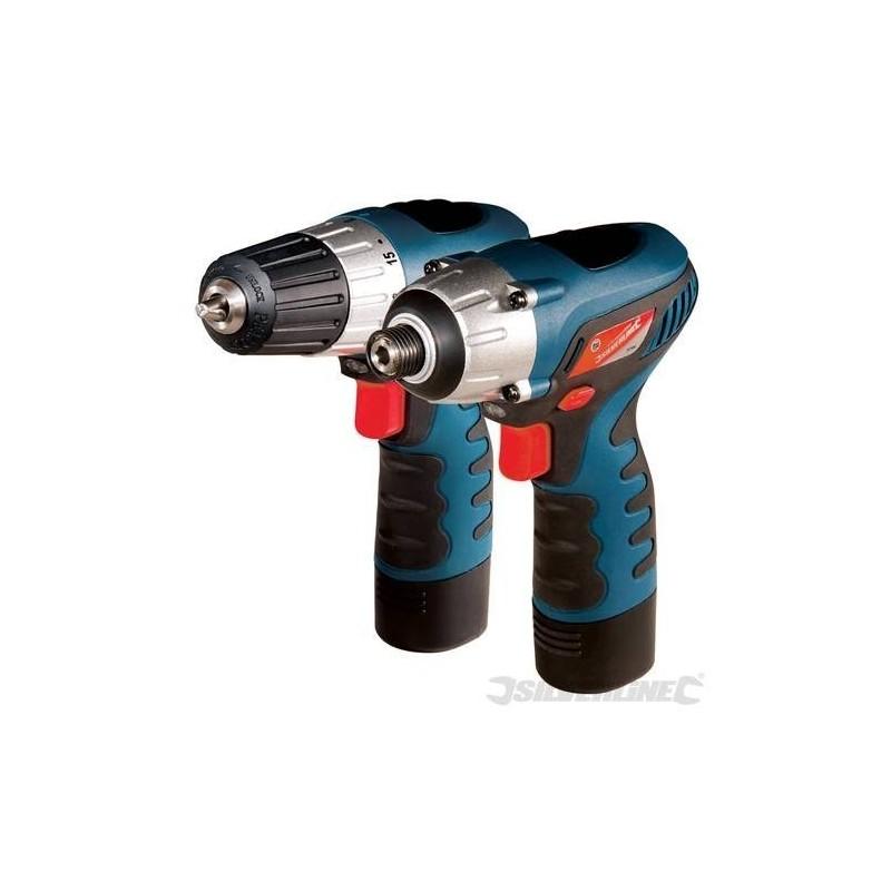 Taladro atornillador y atornillador de impacto 10,8 V