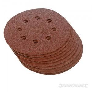10 discos de lijado perforados 125 mm P80
