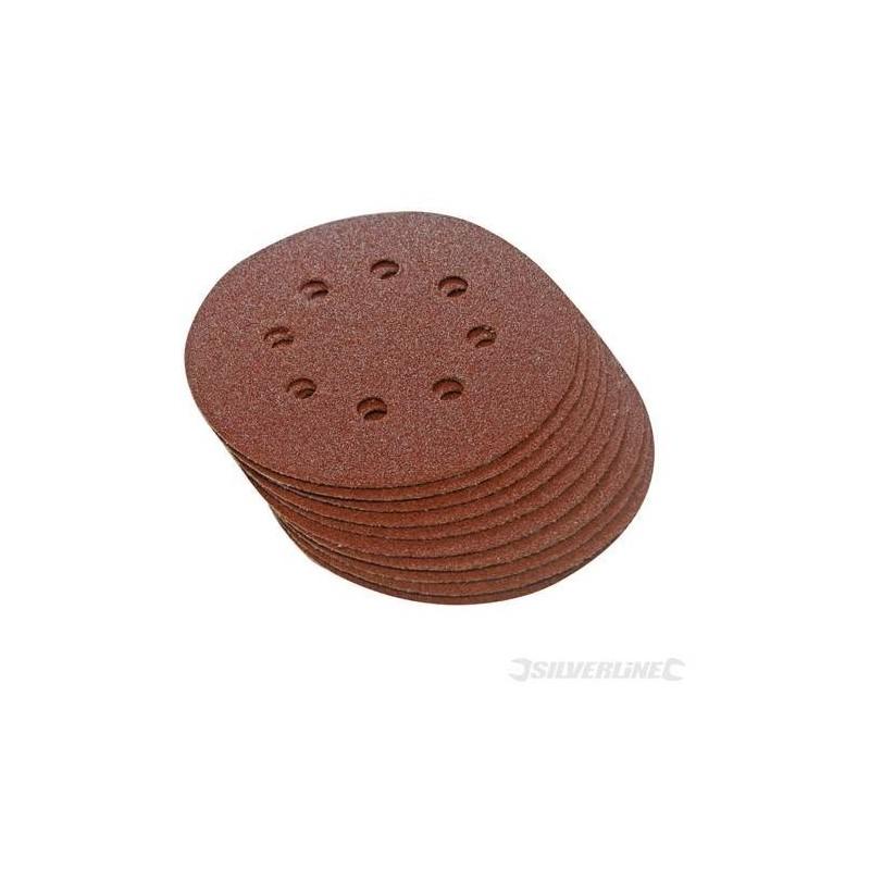10 discos de lijado perforados 150 mm