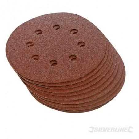 10 discos de lijado perforados 125 mm P120