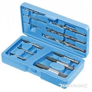 Extractores de tornillos y tuercas rotas 12pzas