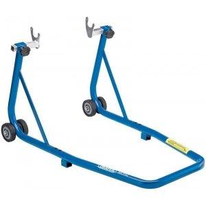 Caballete para rueda trasera de motocicleta con apoyos de bolillos