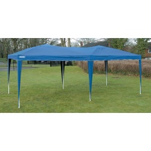 Pérgola plegable azul de 3x6 metros