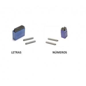Punzónes troquel con números y letras para metal 3 mm