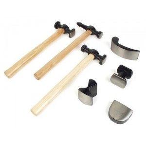 Juego de martillos y tases para chapista