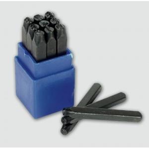 Punzónes troquel con números para metal 8 mm.